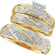 wedding sets his and hers wedding ring sets walmart