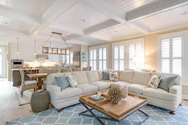 coastal decor quatrefoil rug living room with blue accents coastal decor
