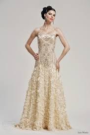 gold dress wedding gold wedding dress kylaza nardi