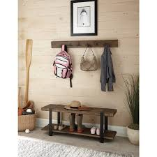 modesto metal and reclaimed wood 48 inch storage coat hook with