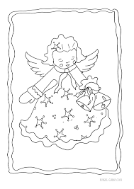 christmas angel coloring pages cherub christmas cherub pictures