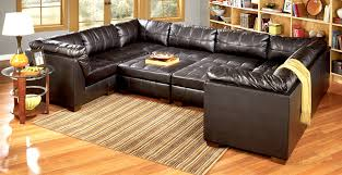 Black Leather Living Room Sets Furniture Upholstered Oversized Sectionals Sofa In Black For