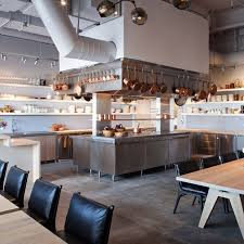 kitchen lovely restaurant open kitchen interior design of aldea