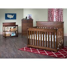 Convertible Crib Nursery Sets by Amazon Com 4 In 1 Convertible Crib In Coach Cherry Finish Baby