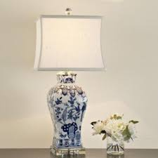 Blue Table Lamp Blue And White Porcelain Table Lamps Foter