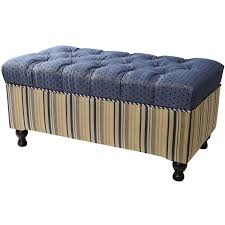 Upholstered Benches Bedroom Bedroom Furniture Striped Pattern Based Bench With Blue