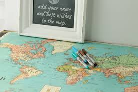 wedding guest sign in your wedding guests sign in with a travel map