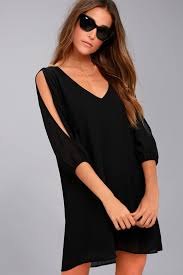 cold shoulder dress pretty black dress shift dress cold shoulder dress 40 00