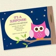 super cute invite but i like the idea of the night owl party for
