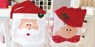 Snowman Chair Covers 4 Santa Or Mr And Mrs Claus Chair Covers