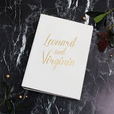 Bridal Shower Photo Album White With Gold Lettering Black Pages Wedding Guestbook Birthday