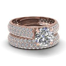 Rose Gold Wedding Rings For Women by Wedding Rings His Her Promise Rings Vintage Rose Gold Bridal