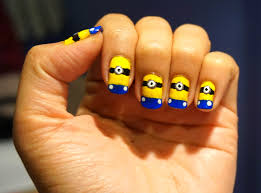 step by step nail art minion u2013 here it is your nail polish blog