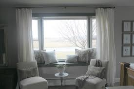 curtains for windows with window seat window curtains for