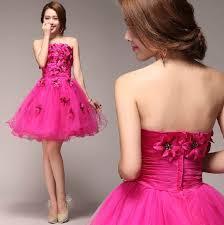 fuschia wedding dress fuschia tulle mini wedding dresses strapless appliques