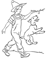 farm boy dog dog coloring coloring