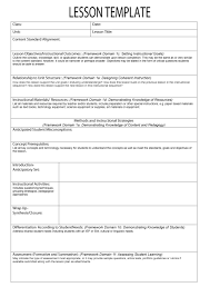 44 free lesson plan templates common preschool weekly