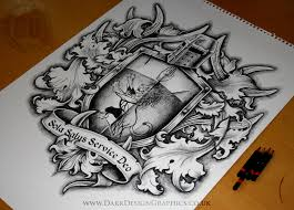 creating a custom coat of arms design on behance