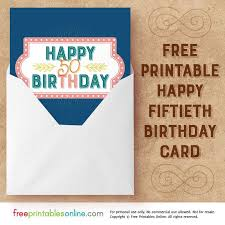 50th birthday cards salmon navy happy 50th birthday card free printables online
