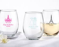 wine glass party favor personalized stemless wine glass party favors