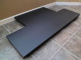 black honed granite