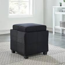 fabric storage cube ottoman ebern designs pimentel fabric storage cube reversible tray lid