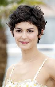 haircuts for curly hair 2014 audrey tautou short haircut very closely chopped brunette curly