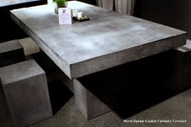 cement table and chairs concrete look dining table dining room ideas