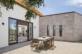 home courtyard modern desert house with courtyard in home builder digest