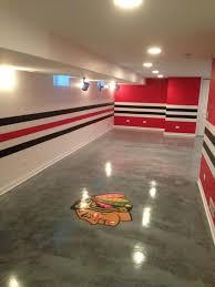 chicago blackhawks themed basement room ideal painting u0026 home