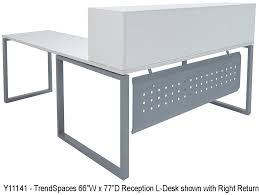 L Shaped White Desk by White L Shaped Reception Desk