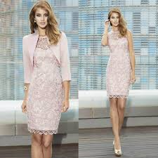 mothers dresses for wedding fashionable sheath lace of bridal dresses with jacket 2016