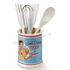 pot ustensiles cuisine pot à ustensiles toquée de cuisine natives déco rétro vintage