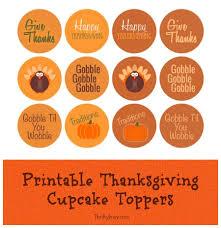 free printable thanksgiving cupcake toppers free printable