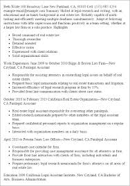 Sample Real Estate Resume professional real estate legal assistant templates to showcase