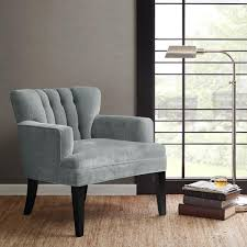 Madison Park Chairs Park Gianna Blue Tufted Wide Seat Club Chair