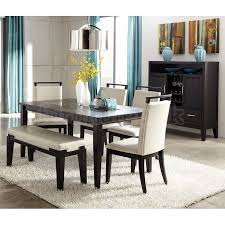 farmhouse table and chairs with bench trishelle dining room set w marvelous dining table set with bench