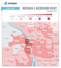Map Downtown Portland by The Cheapest And Most Expensive Portland Neighborhoods To Rent