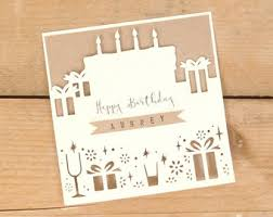 custom birthday cards personalised cards etsy