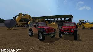 racing jeep wrangler jeep wrangler mod farming simulator 17