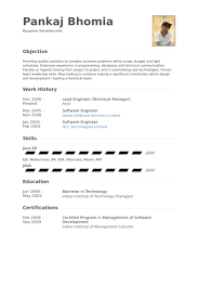 Technical Project Manager Resume Examples by Lead Engineer Resume Samples Visualcv Resume Samples Database