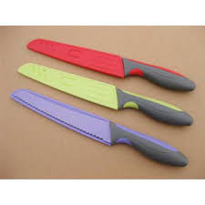plastic kitchen knives 8 chef knife with safe plastic sheath manufacturer from yangjiang china
