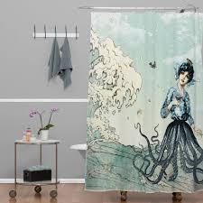 Coastal Shower Curtain by Sea Monster Shower Curtain Kraken Shower Curtain Design And