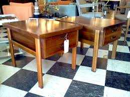 lane furniture dining room lane end tables w drawers cool stuff houston mid century