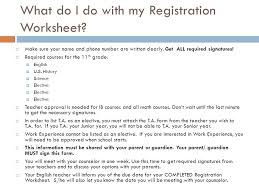 registering for your 11th grade year ppt download