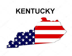 Kentucky Map Usa by Usa State Map Kentucky U2014 Stock Photo Pdesign 1768538