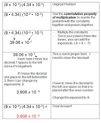multiplying and dividing scientific notation worksheet scientific notation and monomials