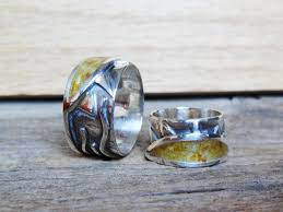 mens sterling rings images Custom made sterling silver mens or womens ring with amber and jpg