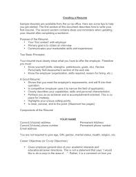 Good Resume Summary Examples Sample Of Good Resume Template Youtuf Com
