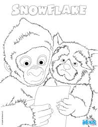 snowflake the gorilla and color coloring pages hellokids com